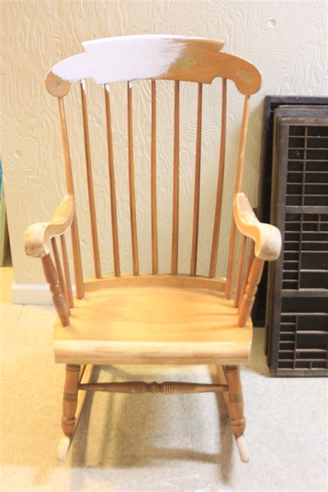 grandpa s rocking chair brightened up for new baby nursery