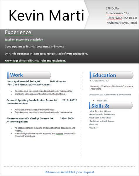 sle creative resume 18 documents in word
