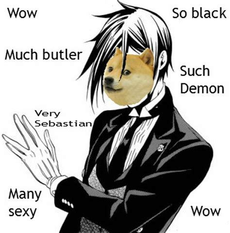 Black Butler Memes - doge wolfeh chan