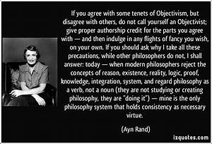 If you agree wi... Ayn Rand Philosophy Quotes