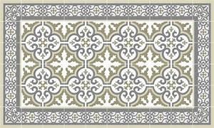Tapis Cuisine Carreaux De Ciment : tapis vinyle carreaux de ciment simone beige ~ Dailycaller-alerts.com Idées de Décoration