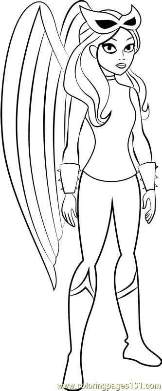hawkgirl coloring page  dc super hero girls coloring pages coloringpagescom