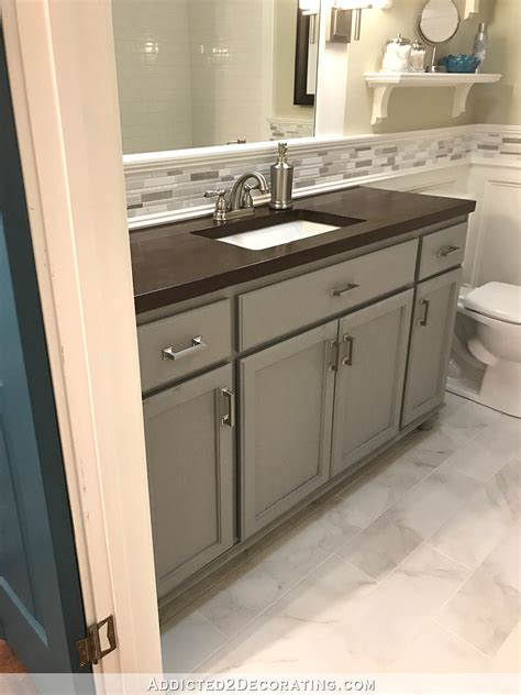 Teal And Gray Bathroom