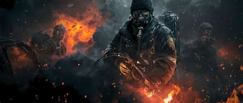 apocalypse division xbox ps4 clancy tom flamethrower 4k games pc wallpapers game apocalyptic resolution 5k screenshot divison