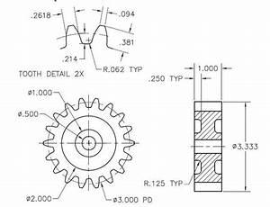 Mechanical Gears Drawing