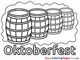 Coloring Beer Barrel Printable Barrels Wine Template sketch template