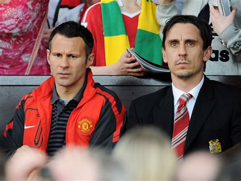 Former Manchester United team-mates Ryan Giggs and Gary ...