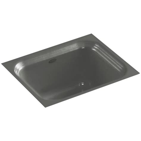 kohler thunder grey sink kohler northland undermount cast iron 15 in single basin
