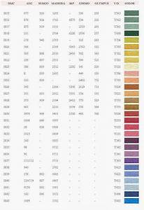 Semco Color Chart Dmc Anchor Semco Madeira J P Cosmo Olympus Y D Color