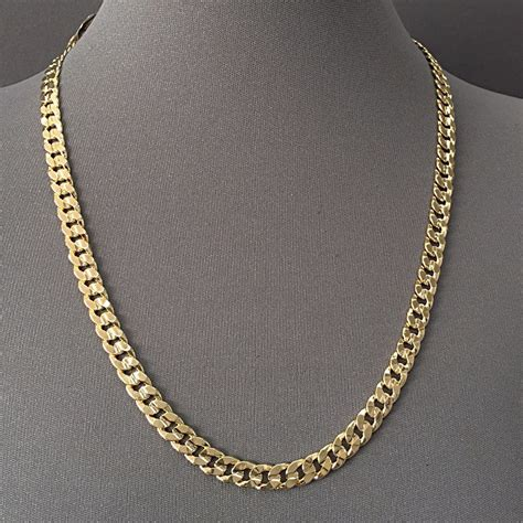 227/24 - Men's Necklace 14K Gold Plated 7.5 mm / Cuban