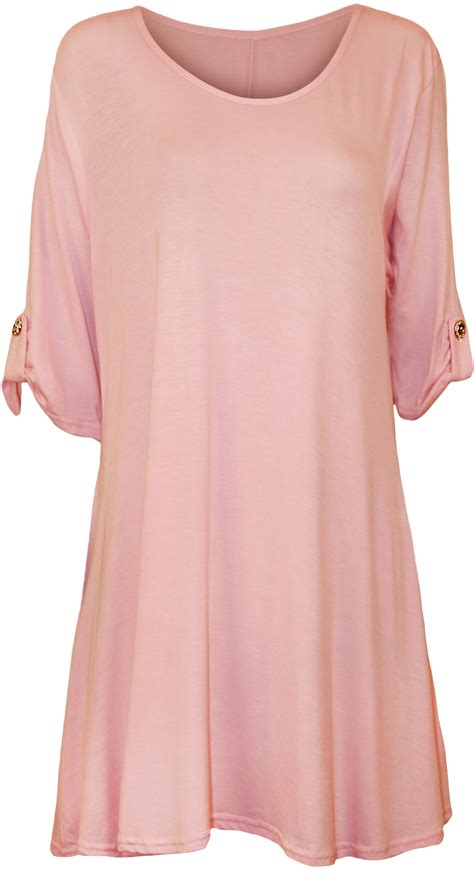 swing blouses plus size womens plain swing flared