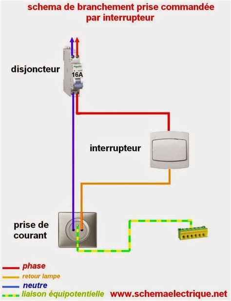 interrupteur pour le de bureau schema electrique prise commandée par interrupteur