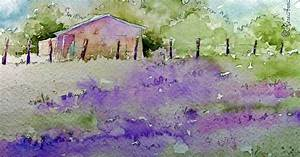 Watercolor Paintings by RoseAnn Hayes: Lavender Field ...