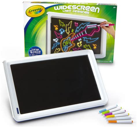 light board for kids amazon com crayola widescreen light designer 74 7053