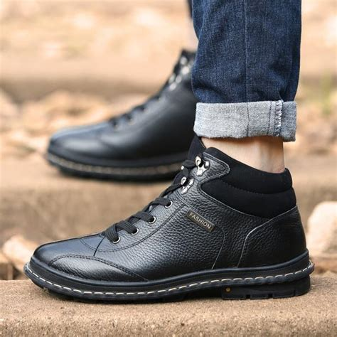 Shoes Fashion Autumn Winter Genuine Leather Casual Boots