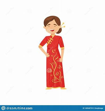 Chinese Clothes Traditional China Female Costume Cartoon