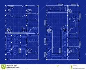 Simple Nightclub Blueprint Stock Vector  Illustration Of