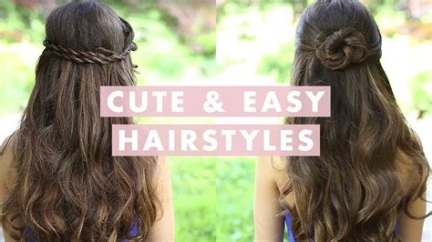 cute  easy hairstyles youtube