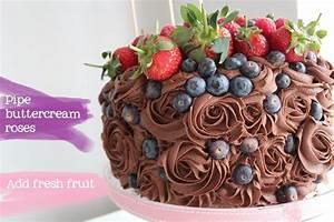 Fresh Fruit Chocolate Cake | icing4 | Pinterest