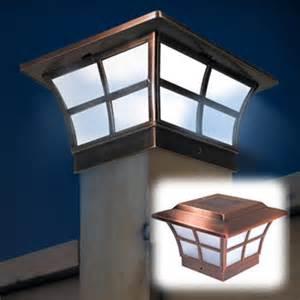 prestige solar post cap light copper 6x6