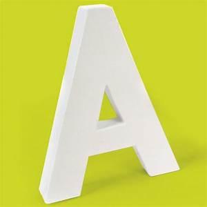 Lettre En Carton À Peindre : lettre en carton a lettre en carton 20 cm creavea ~ Nature-et-papiers.com Idées de Décoration