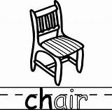 Chair Coloring Teach Abc Sheets Chairs Printable Wecoloringpage Santa sketch template