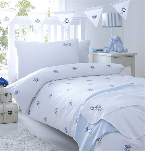 Bedding For by Blue Owls Embroidered Bedding By The Cotton Company