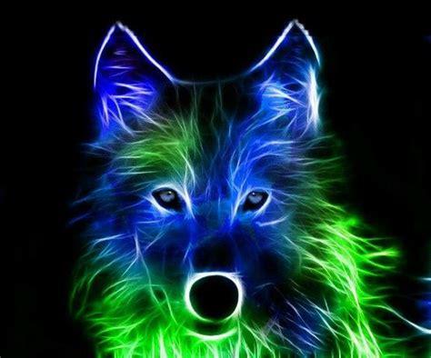 neon wolf neon wonders pinterest wolves  neon