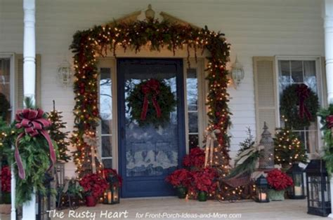 front porch christmas decorating ideas front porch