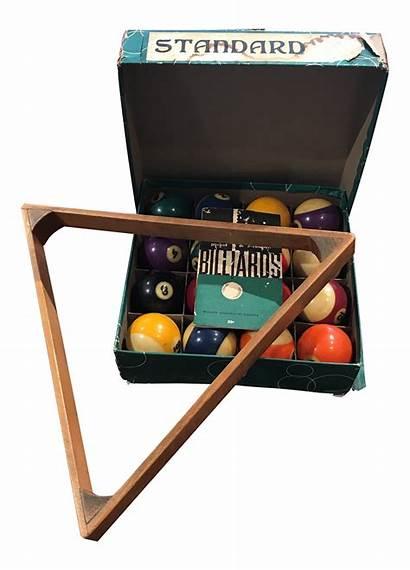 Rack Billiard Pool Balls 1960s Display Wooden