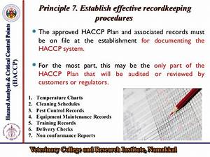 Haccp For The Safety Of Livestock Products