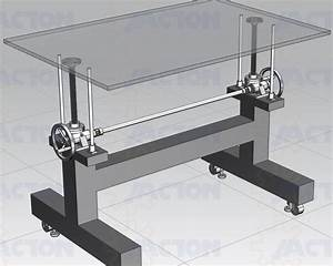 Manually Hand Crank Height Adjustable Table Base With