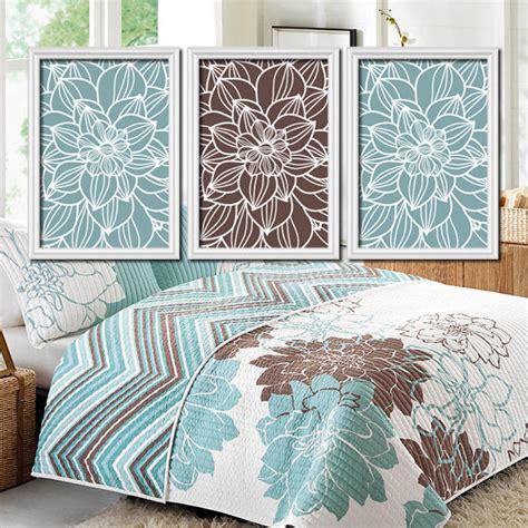 blue brown bedroom wall art canvas or prints bathroom by