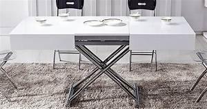 Table Basse Relevable Blanc Laqué : deco in paris canape d angle cuir new york blanc et noir angle droite 1005c ~ Teatrodelosmanantiales.com Idées de Décoration