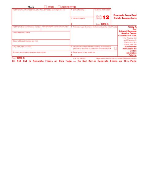1099 S Certification Form by Form 1099 S Proceeds From Real Estate Transactions Info