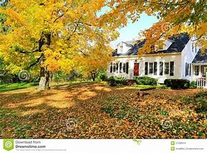 Classic New England American House ExteriorStock Image