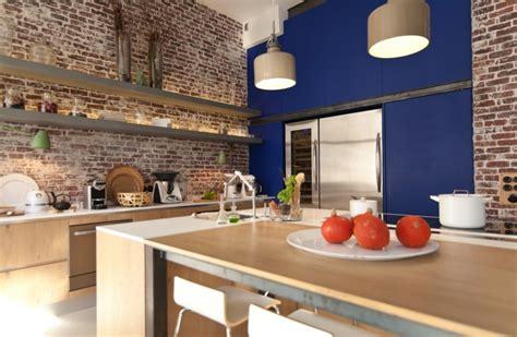 cuisine avec brique cuisine avec mur en brique