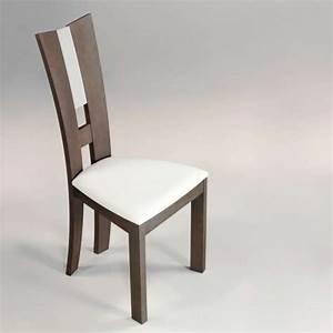 chaise de salle a manger contemporaine en synthetique et With chaise salle a manger bois massif pour deco cuisine
