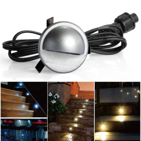 pack of 10 low voltage led deck light kit waterproof