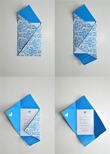 wedding invitation with envelope fold paper crafts With types of wedding invitation designs