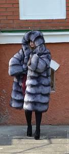 Fur Coat Black Brown  Silver  Foxes Cross  Hooded