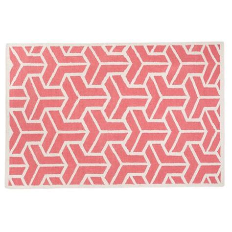 land of nod rugs pink crows wool rug the land of nod