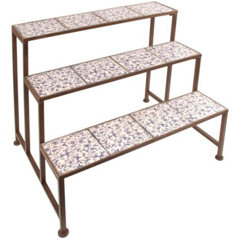 Outdoor Etagere Plant Stand by Stylish Ditsy Ceramic Etagere Three Tier Plant Stand By