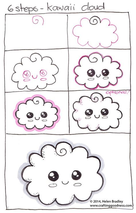paso a paso c 243 mo dibujar una nube kawaii aprender a dibujar qu 233 dibujos