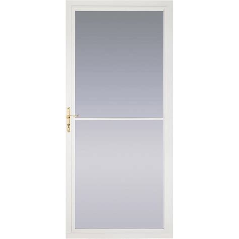 shop pella montgomery white view aluminum retractable