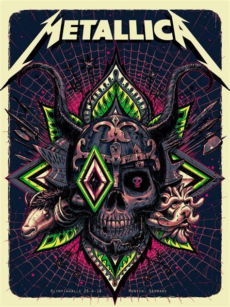 Metallica Munich Artist Edition Poster   Stormcloudz