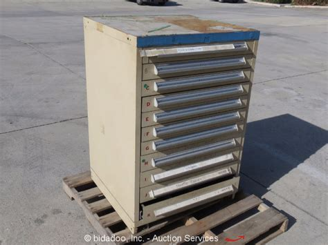 Used Vidmar Cabinets California by Stanley Vidmar 11 Drawer Parts Tool Cabinet Shop Equipment