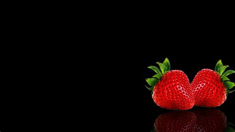 Apple Background Black Fruits Wallpapers Strawberry
