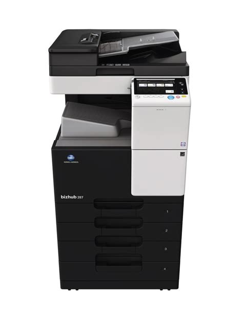 Because of unavailable paper size (copy, print and fax) are bypassed by consecutive jobs. Konica Bizhub 287: copieur multifonction A4-A3 Noir ...