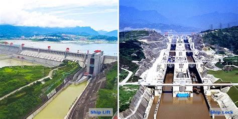 Yangtze Boat Lift three gorges dam ship lift ship lift ship lock difference